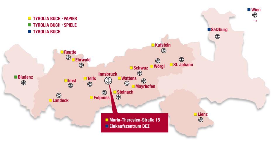 Tyrolia Filialen